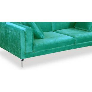 Диван Loft & Mid-Century, зеленый плюш
