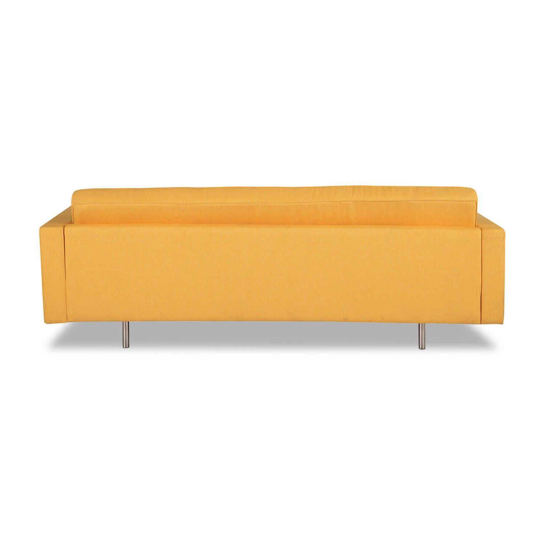 Желтый прямой диван Madison