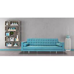 Голубой прямой диван Madison