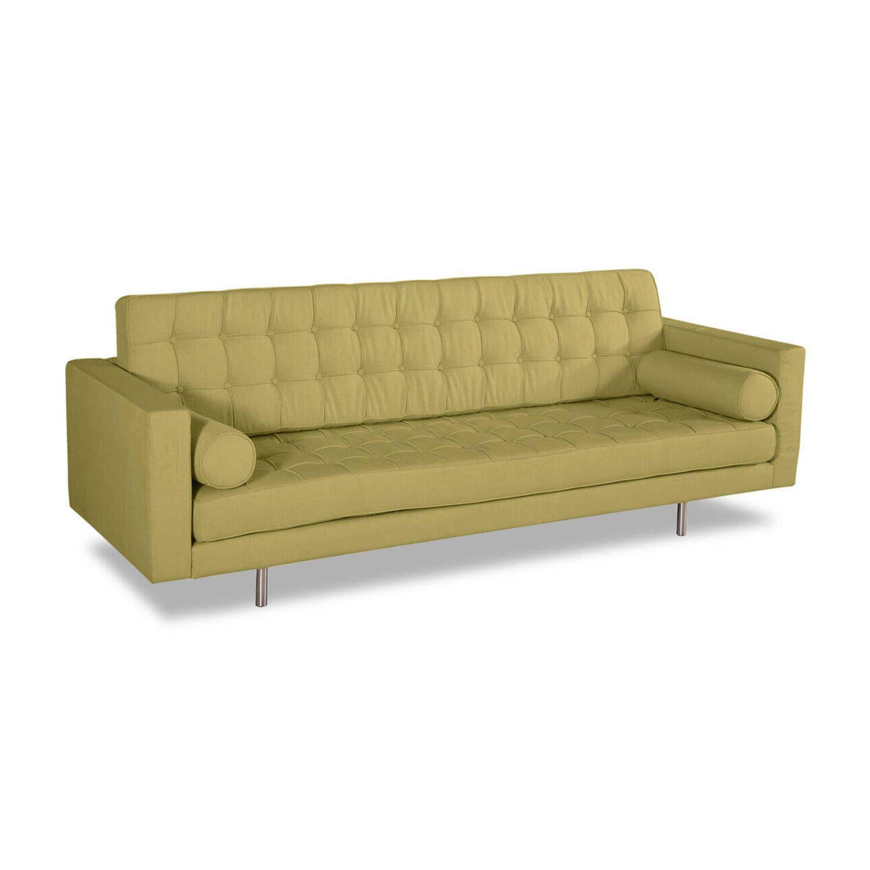 Оливковый прямой диван Madison