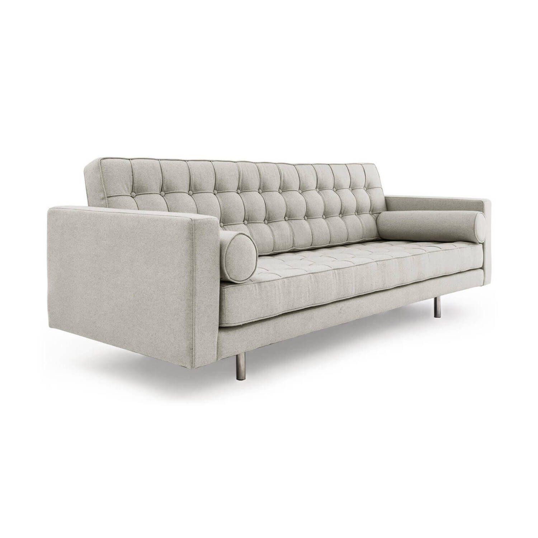 Светло-серый прямой диван Madison