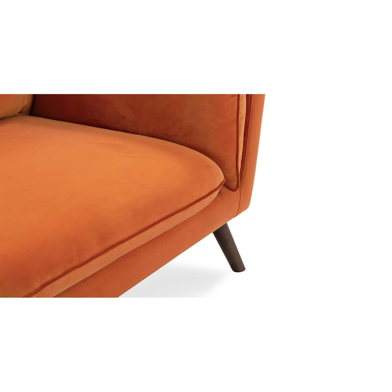 Прямой серый диван Michelle