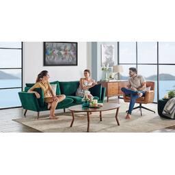 Прямой зеленый диван Michelle
