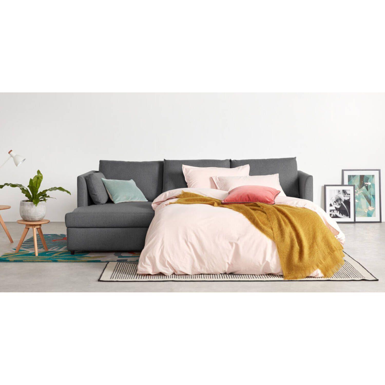 Диван-кровать Milner, угловой, бордовый