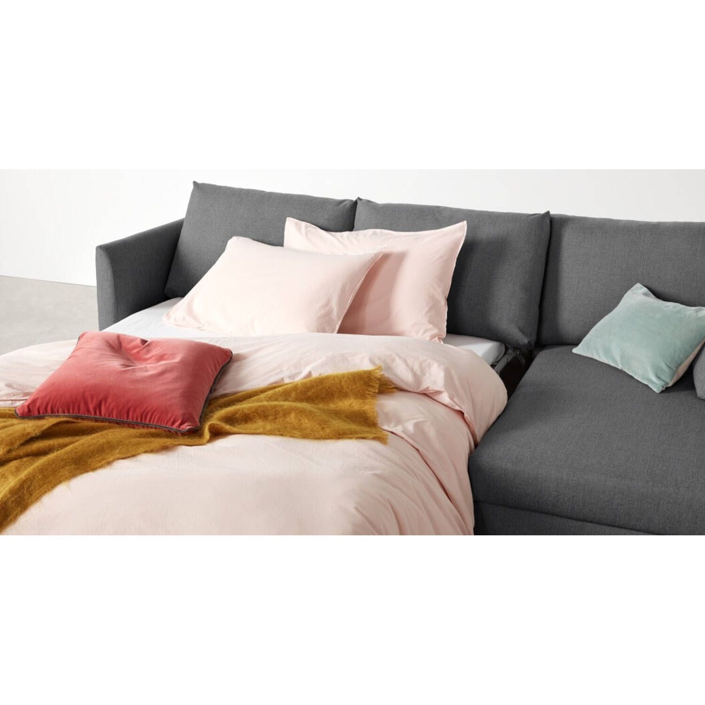 Диван-кровать Milner, угловой, серый, рогожка