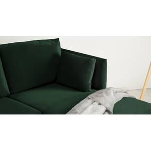 Диван Milner угловой, зеленый