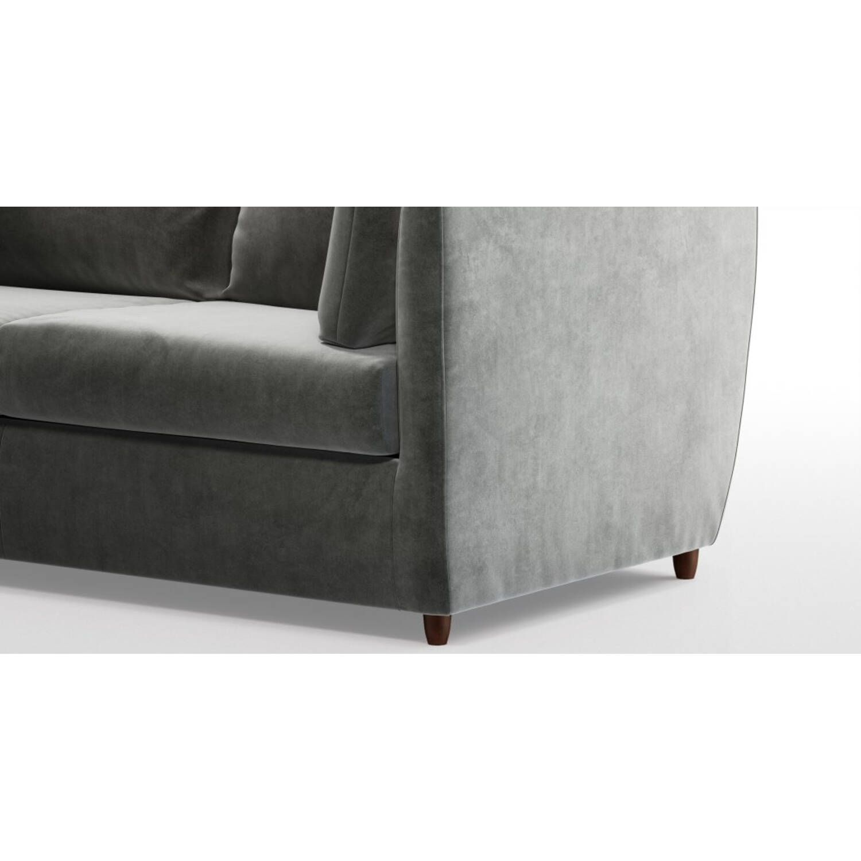 Диван-кровать Milner, прямой, серый, микровельвет