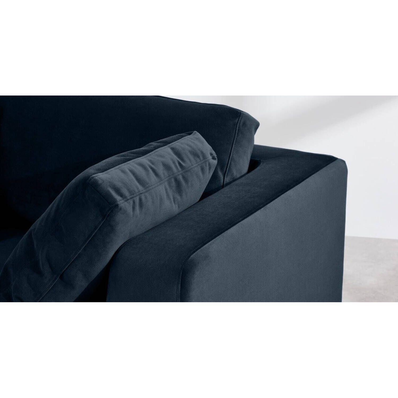 Диван со спальным механизмом Mogen угловой, синий, вельвет