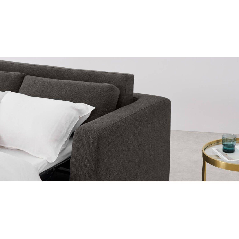 Диван со спальным механизмом Mogen прямой, серый, рогожка
