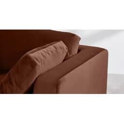 Диван со спальным механизмом Mogen прямой, коричневый