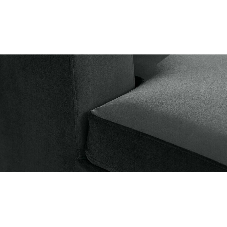 Диван Mogen угловой, серый, микровельвет