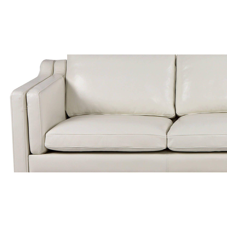 Диван Monroe, белый кожаный