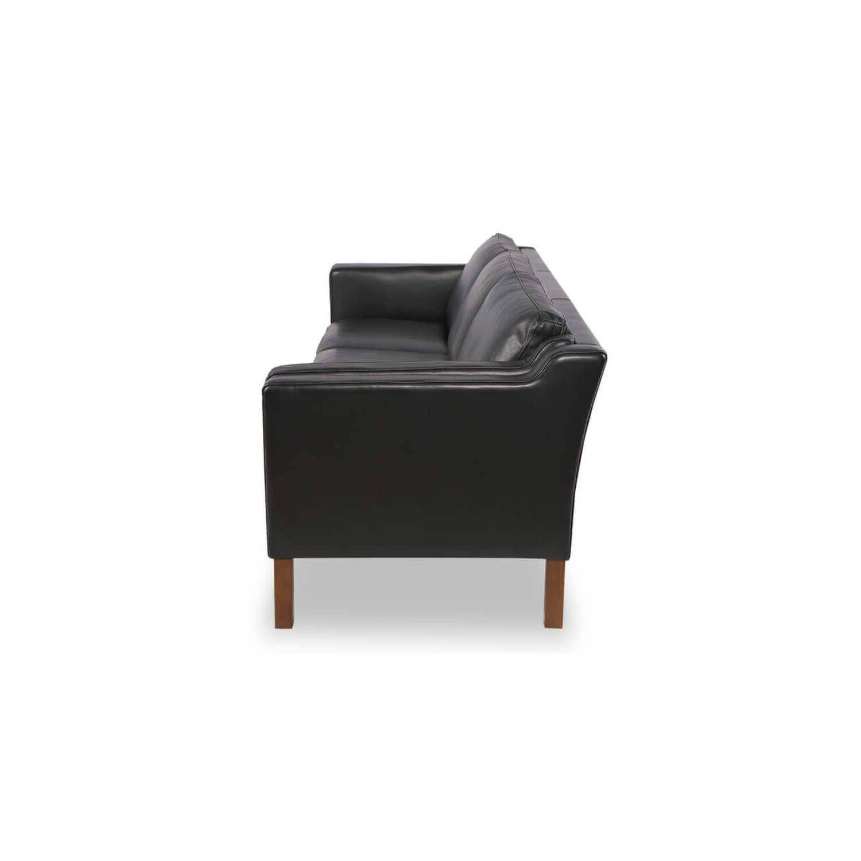 Черный диван Monroe, экокожа, скандинавский эко дизайн
