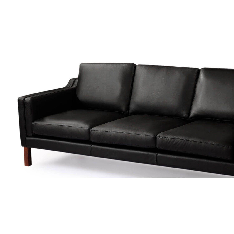 Черный кожаный диван Monroe, скандинавский эко дизайн