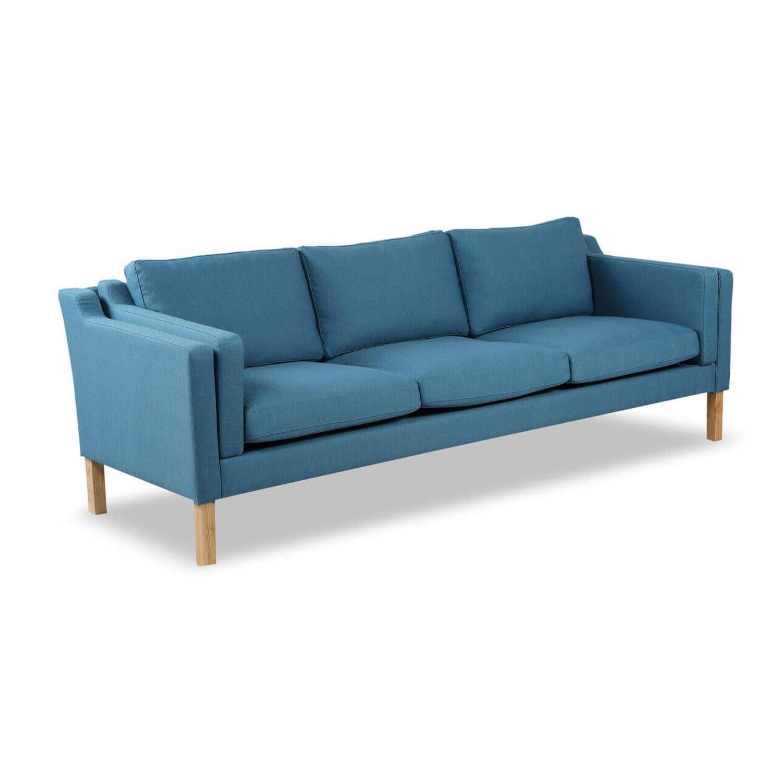 Голубой прямой диван Monroe, скандинавский эко дизайн