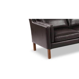 Диван Monroe, коричневый кожаный