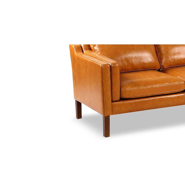 Диван Monroe, оранжевый, экокожа