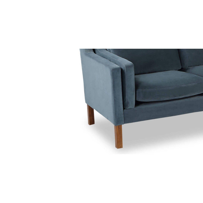 Синий прямой диван Monroe, скандинавский эко дизайн