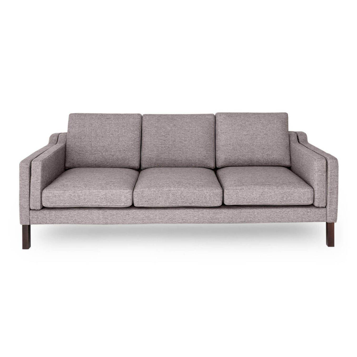 Светло-серый прямой диван Monroe, скандинавский эко дизайн