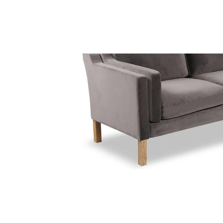 Темно-серый прямой диван Monroe, скандинавский эко дизайн
