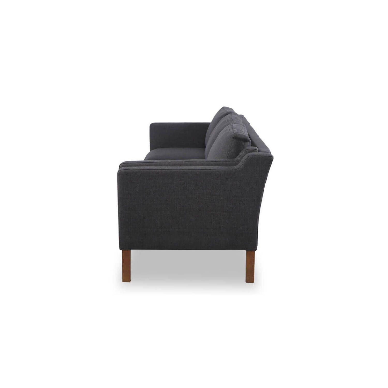 Угольно серый прямой диван Monroe, скандинавский эко дизайн