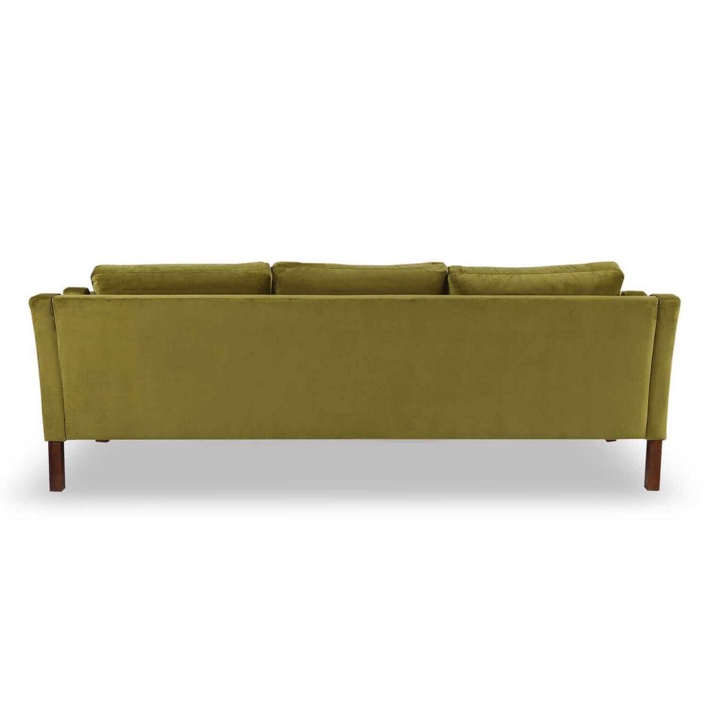 Зеленый прямой диван Monroe, скандинавский эко дизайн