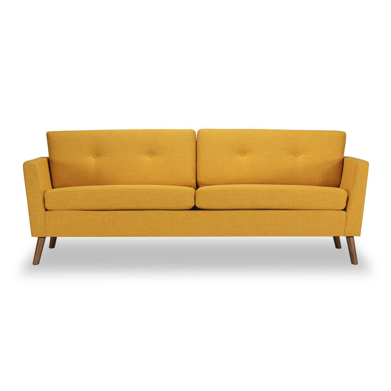 Дизайнерский желтый диван Mid-Century, в стиле модерн