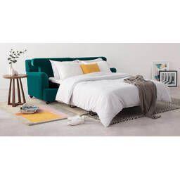 Диван со спальным местом Orson, прямой, бирюзовый