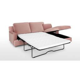 Диван со спальным местом Orson, угловой, розовый