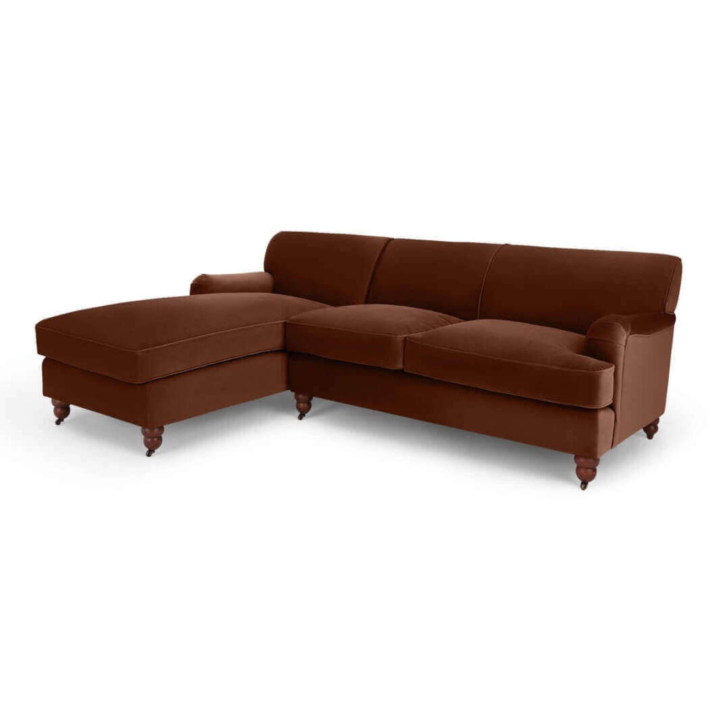 Диван со спальным местом Orson, угловой, коричневый
