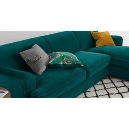 Диван со спальным местом Orson, угловой, бирюзовый
