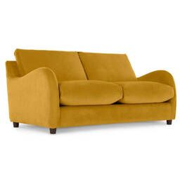 Диван-кровать Sofia со спальным механизмом, желтый