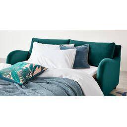 Диван-кровать Sofia со спальным механизмом, изумрудный