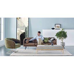 Прямой коричневый диван Spectre