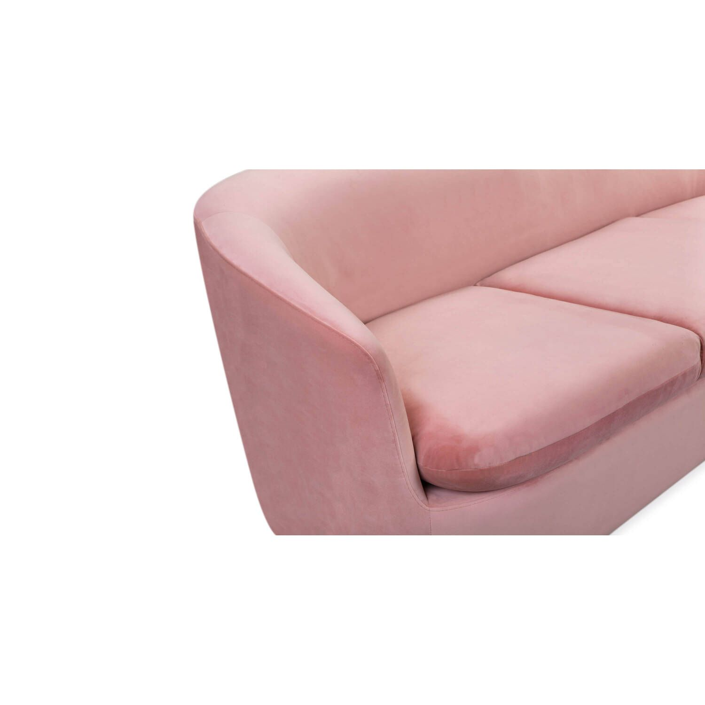 Диван Vogue, прямой, розовый