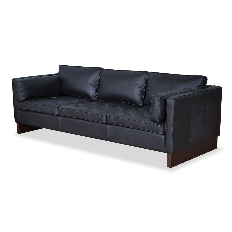 Прямой черный диван Wexler