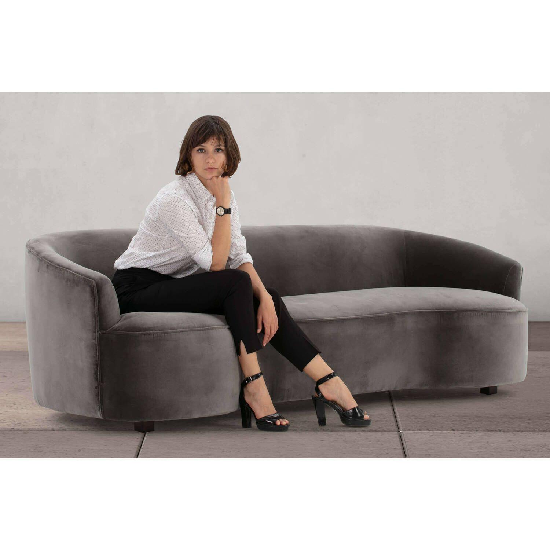 Прямой серый диван Yasmin