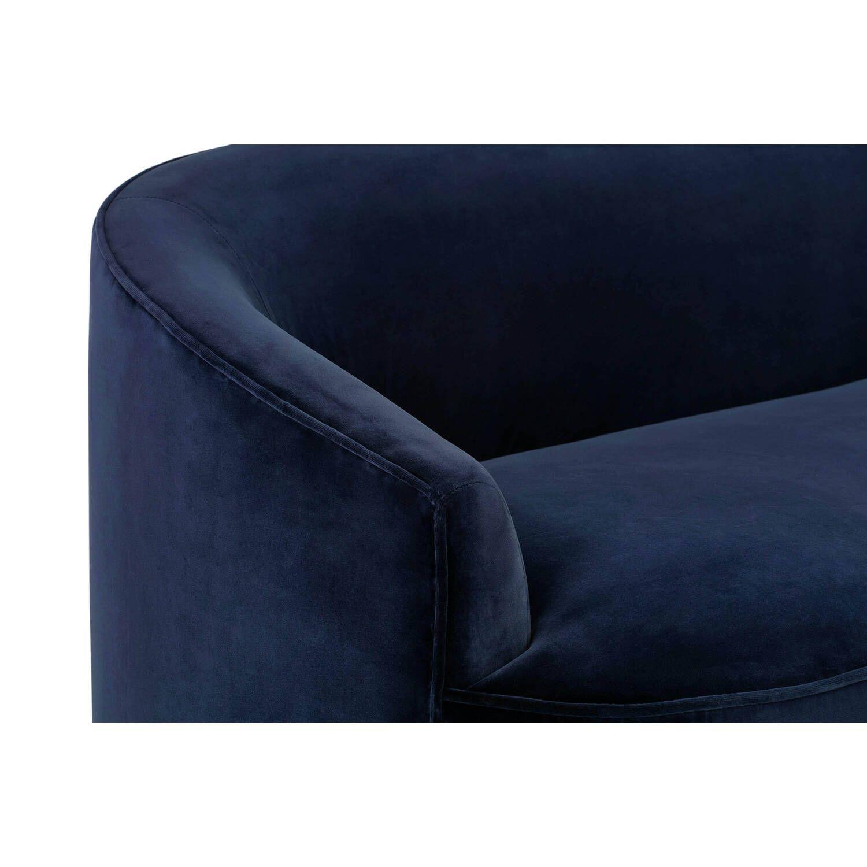 Прямой синий диван Yasmin