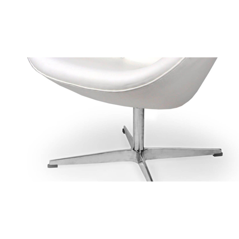 Белое кожаное кресло Swan