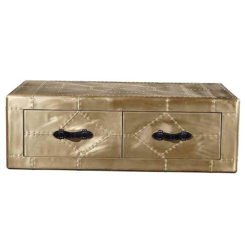 Дизайнерский стол в стиле Авиатор Aviator Brass Coffee Table