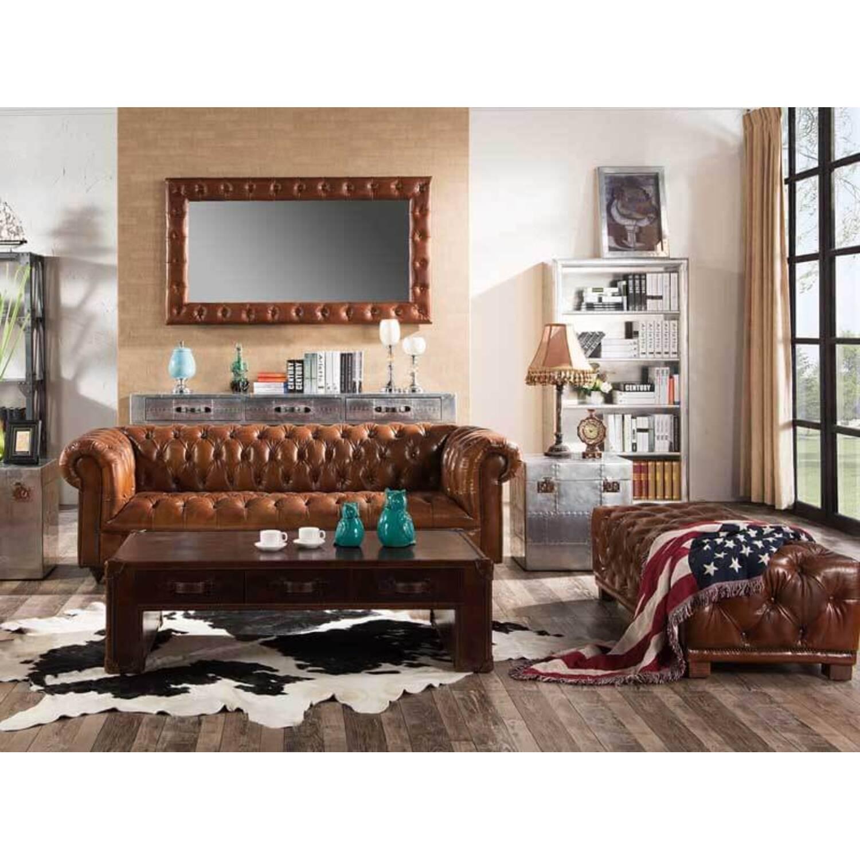 Дизайнерский стол в стиле Авиатор Wood&Leather Aviator Coffee Table