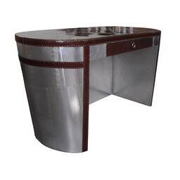 Стол Vintage Leather Steamer Aviator Reception Desk