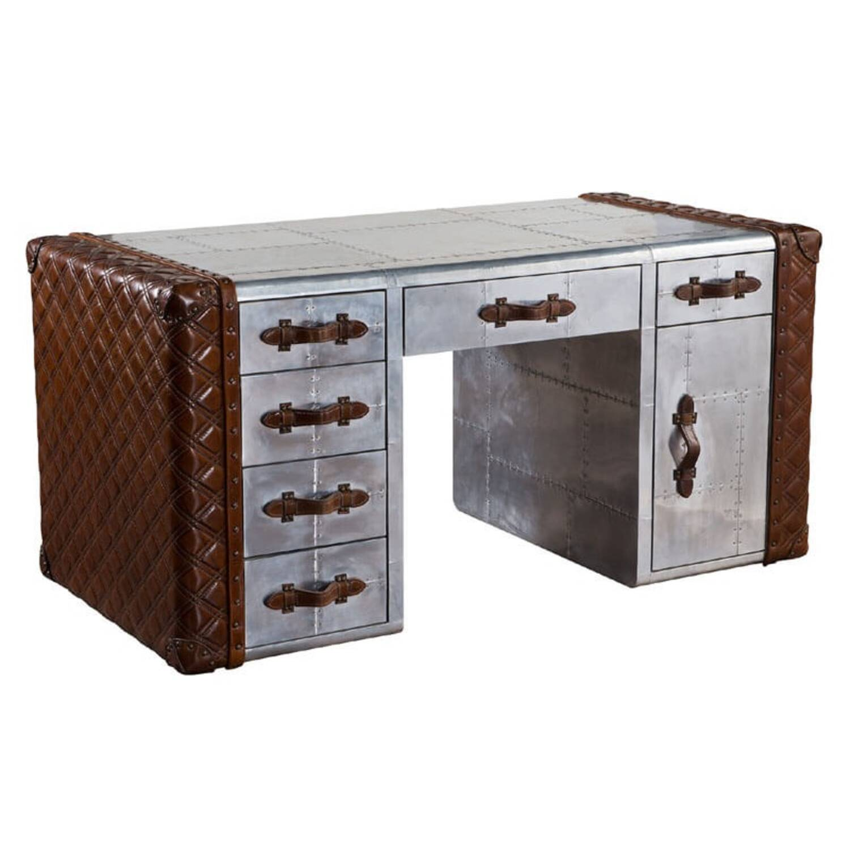 Дизайнерский стол в стиле Авиатор Vintage Leather Aviator Office Desk