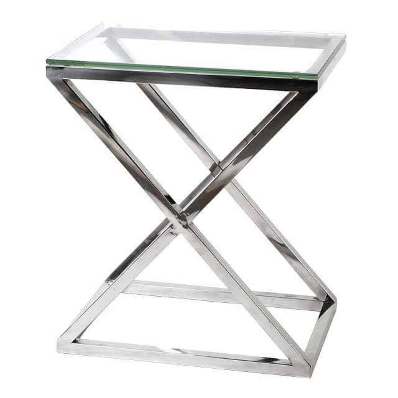 Стеклянный кофейный столик Croix 63x43x73