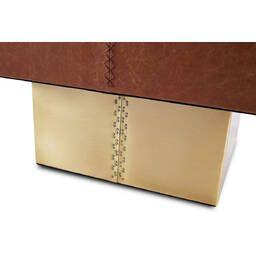 Кофейный стол Square Drum Coffee Table, коричневый