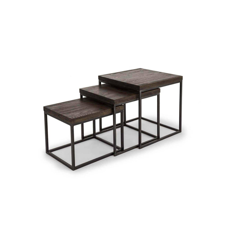 Набор из 3 кофейных столиков Tundra Dark