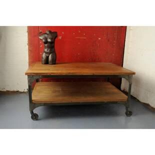 Журнальный стол Vintage Industrial Wood&Wheels