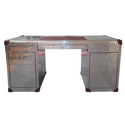 Стол Riveted Aluminium Cover Aviator Office Desk