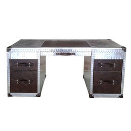 Стол Riveted Aluminium Cover Aviator Office Desk