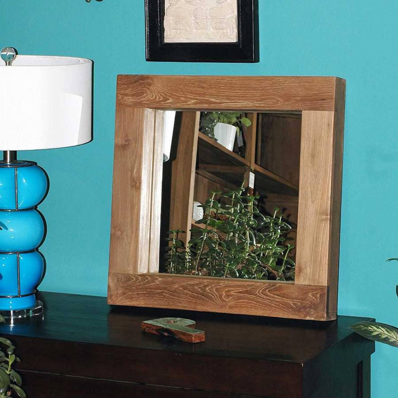 Зеркало из массива дерева ценных пород Fissure 56